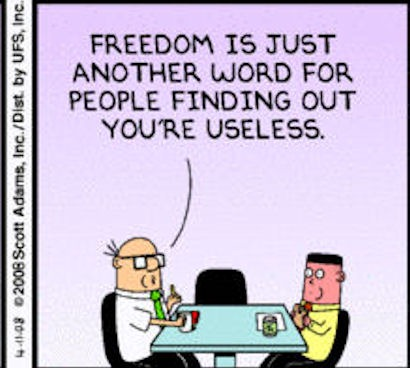 dilbert - freedom