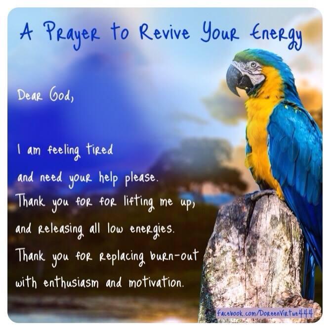 doreen virtue prayer to revive energy
