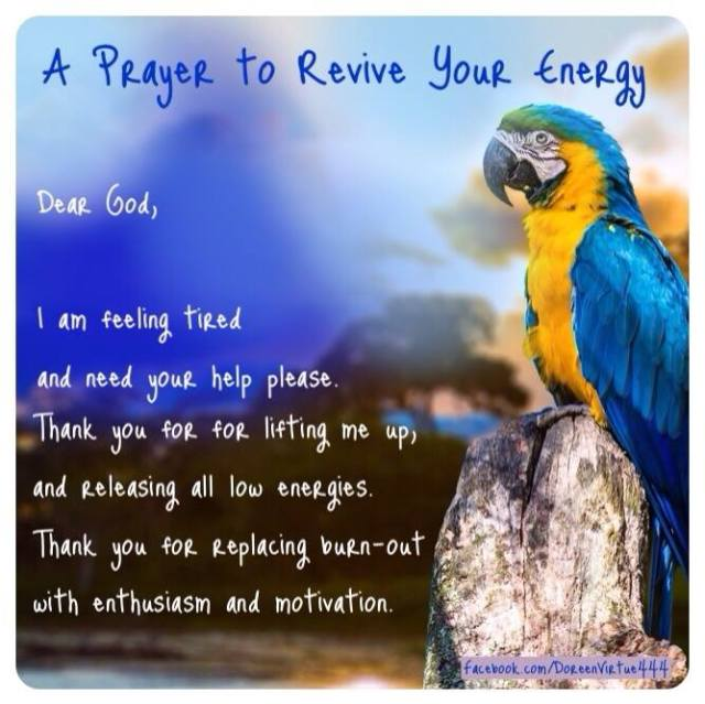 doreen virtue prayer to revive energy
